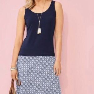 Talbots Stretch Knit Tank Top  Navy L